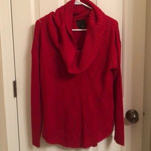 Beautiful Red Cowl Neck Sweater